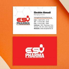 نمونه کارت طراحی کارت ویزیت داروئی