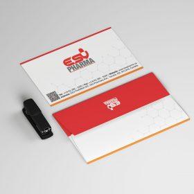 نمونه کار طراحی پاکت نامه شرکت داروئی
